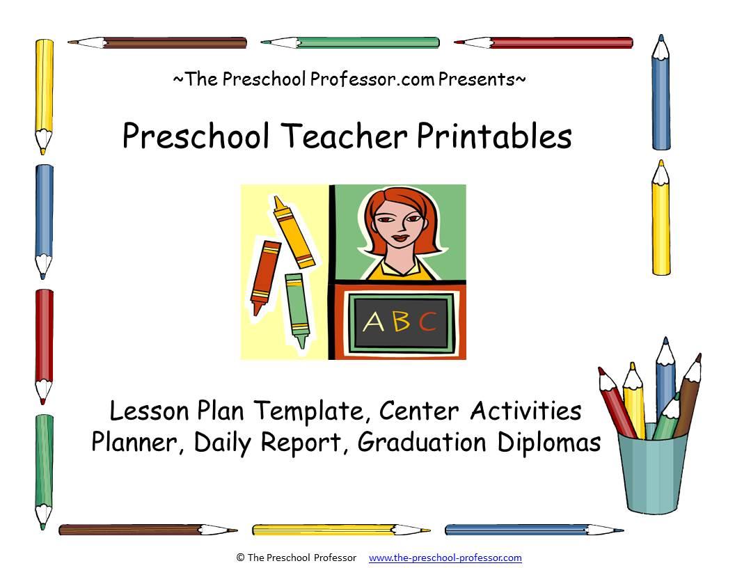 "... my free e-book called ""Preschool Teacher Printables"" which includes"
